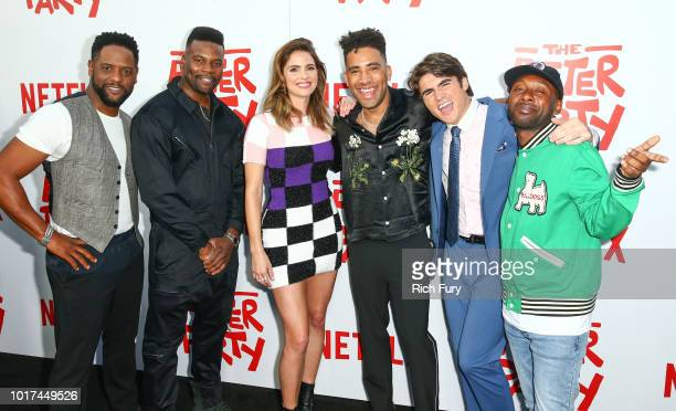 Blair Underwood Amin Joseph Shelley Hennig Kyle Harvey Harrison Holzer and Jordan Rock attend the screening of Netflix's 'The After Party' at...