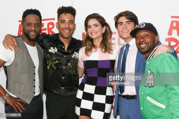 Blair Underwood Amin Joseph Shelley Hennig Kyle Harvey Harrison Holzer and Jordan Rock attend the screening of Netflix's 'The After Party' at the...