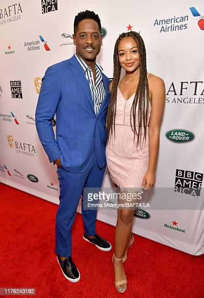 Blair Underwood and Brielle Underwood attend the BAFTA Los Angeles BBC America TV Tea Party 2019 at The Beverly Hilton Hotel on September 21 2019 in...