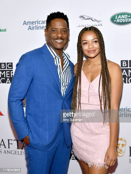 Blair Underwood and Brielle Underwood attends the BAFTA Los Angeles BBC America TV Tea Party 2019 at The Beverly Hilton Hotel on September 21 2019 in...