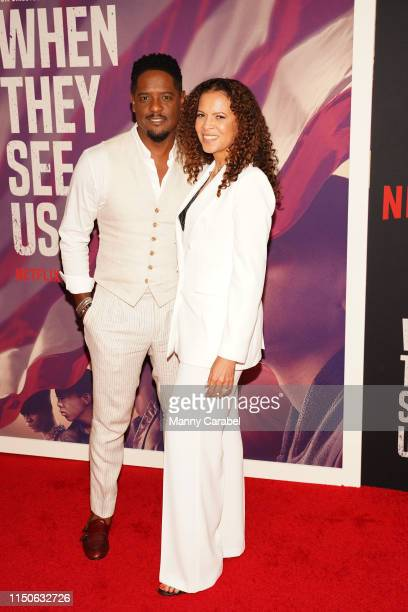 Blair Underwood and Desiree DaCosta attend the World Premiere of When They See Us at The Apollo Theater on May 20 2019 in New York City