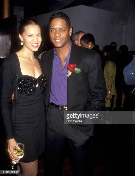 Blair Underwood and Desiree DaCosta during Showtime Salutes Black History Month at B Smith's Restaurant in New York City New York United States