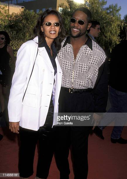 Blair Underwood and Desiree DaCosta during 'The Nutty Professor' Los Angeles Benefit Premiere at Universal Studios Amphiteatre in Universal City...