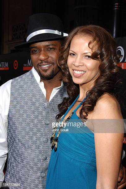 Blair Underwood and Desiree DaCosta during The Seat Filler Los Angeles Premiere Red Carpet at El Capitan in Los Angeles California United States