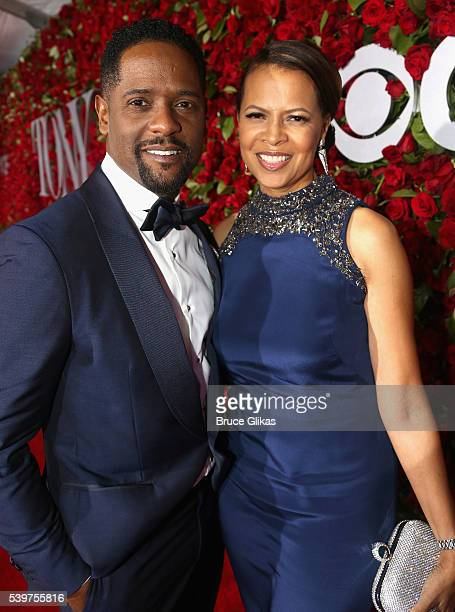 Blair Underwood and Desiree Underwood attend the 70th Annual Tony Awards at The Beacon Theatre on June 12 2016 in New York City