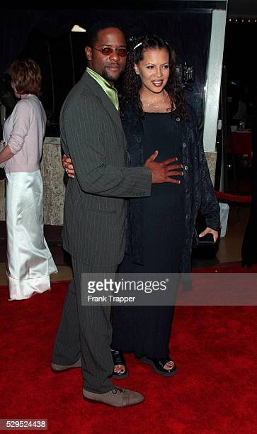 Blair Underwood and his wife arrive at the Mann's Bruin Theater