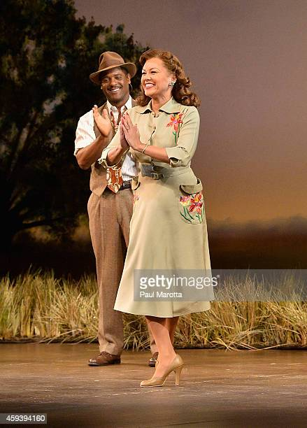 Blair Underwood and Vanessa Williams take a bow at the opening night performance of The Trip to Bountiful as part of the ArtsEmerson The World on...