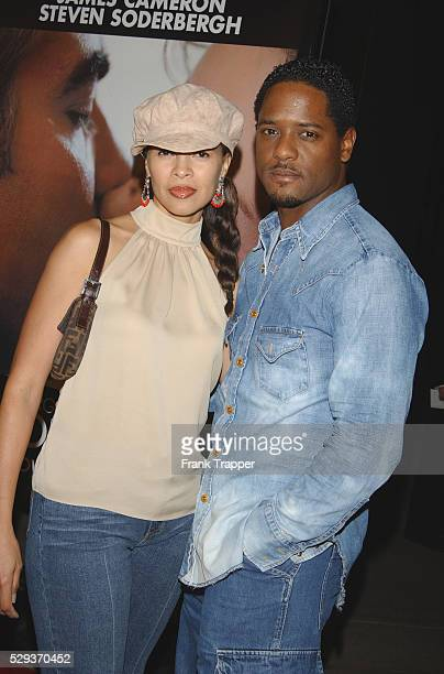 Blair Underwood and wife arriving at the premiere of Solaris