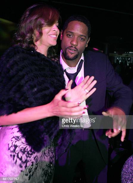 Blair Underwood and wife during Magic Evolution An Evening Honoring Earvin Magic Johnson Inside at Beverly Hilton in Beverly Hills California United...