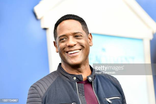 """Blair Underwood attends the premiere of FX's """"Impeachment: American Crime Story"""" at Pacific Design Center on September 01, 2021 in West Hollywood,..."""