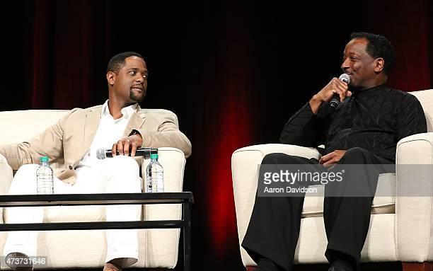 Blair Underwood Donnie Simpson attend 'A Conversation about Hollywood Radio and Fame' at the AARP Life@50 Expo at the Miami Beach Convention Center...