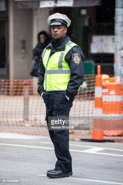 Blair Underwood is seen filming 'Quantico' in TriBeCa on February 4 2018 in New York New York