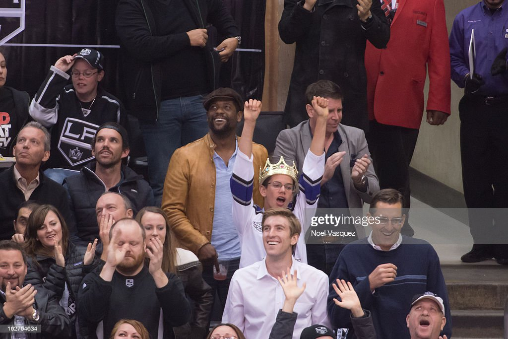 Blair Underwood is sighted at a hockey game between the Anahiem Ducks and Los Angeles Kings at Staples Center on February 25, 2013 in Los Angeles, California.