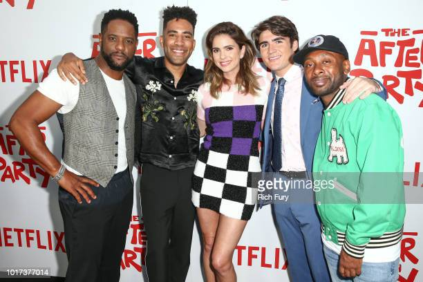 Trevor Engelson Heather Perry Ian Edelman Douglas Banker Jake Stein and Katie McNeil attend the screening of Netflix's 'The After Party' at ArcLight...