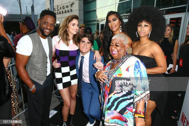 Blair Underwood Shelley Hennig Harrison Holzer Parisa Amiri Luenell and LA Love The Boss attend the screening of Netflix's 'The After Party' at...