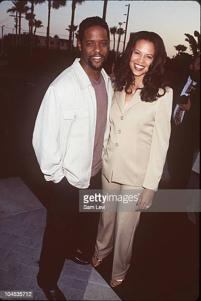 Blair Underwood Wife during Deep Impact Hollywood Premiere at Paramount Studios in Los Angeles California United States