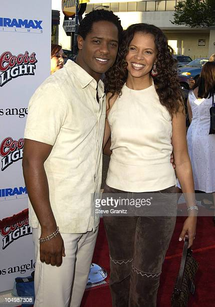Blair Underwood wife during Full Frontal Premiere at Landmark Cecchi Gori Fine Arts Theatre in Beverly Hills California United States