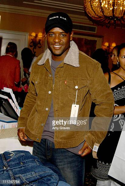 """Blair Underwood with Levi Strauss & Co jacket during HBO """"Luxury Lounge"""" at the 55th Annual Emmy Awards at The Peninsula Hotel - Magnolia Room in..."""