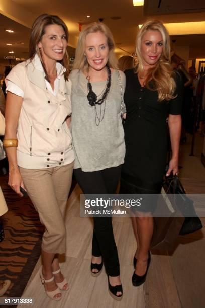 Blair Voltz Clarke Amy Hoadley and Amy Phelan attend SAKS FIFTH AVENUE celebrates W magazine's September Issue at Saks Fifth Avenue on September 14...