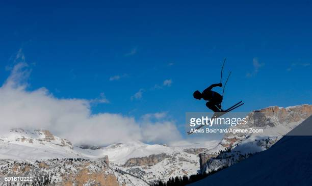 Blaise Giezendanner of France in action during the Audi FIS Alpine Ski World Cup Men's Downhill Training on December 13 2017 in Val Gardena Italy
