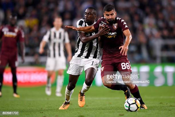 Blaise Matuidi and Tomas Rincon during the Serie A match between Juventus and Torino FC on September 23 2017 in Turin Italy