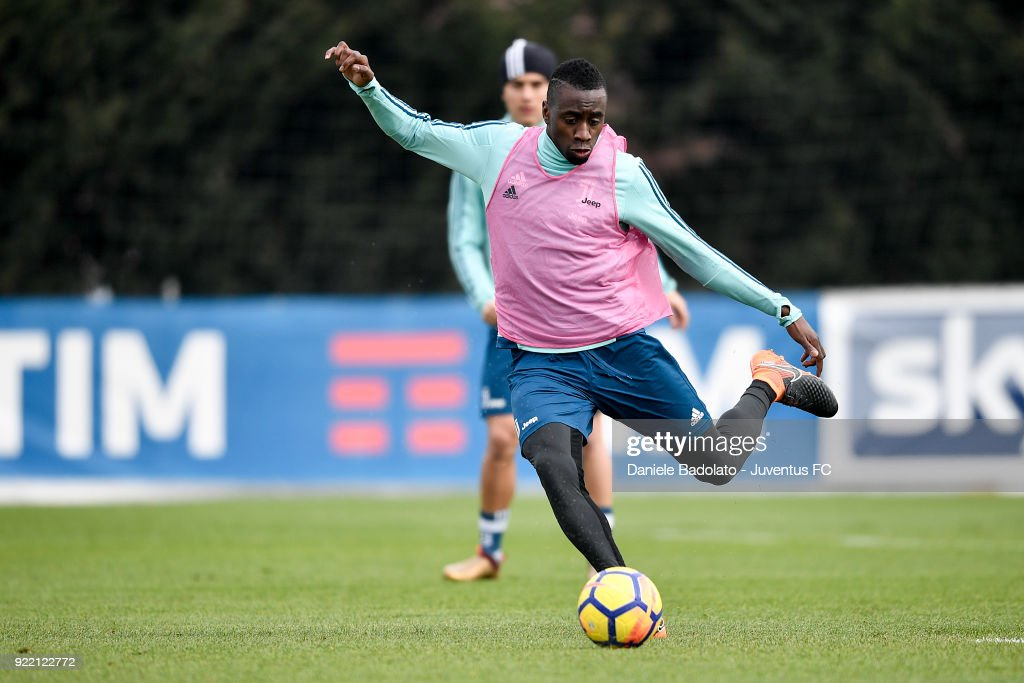 Blaise Matuidi at Juventus Center Vinovo on February 21, 2018 in Vinovo, Italy.