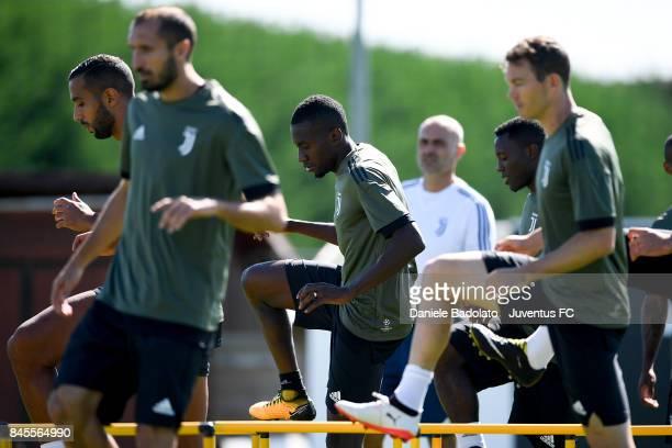 Blaise Matuidi during a Juventus training session at Juventus Center Vinovo on September 11 2017 in Vinovo Italy