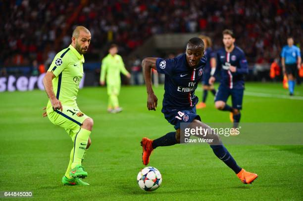 Blaise MATUIDI / Javier MASCHERANO Paris Saint Germain / Barcelone 1/4Finale Aller Champions League Photo Dave Winter / Icon Sport