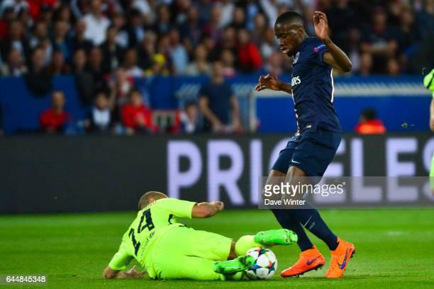 Blaise MATUIDI / Javier MASCHERANO Paris Saint Germain / Barcelone 1/4Finale Aller Champions League Photo Dave Winter / Icon Sport