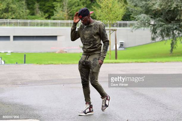 Blaise Matuidi of France arrives at Centre National du Football on October 2 2017 in Clairefontaine en Yvelines France