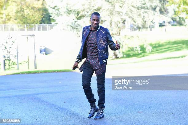 Blaise Matuidi of France arrives at the Centre National du Football in Clairefontaine en Yvelines France on November 6 2017