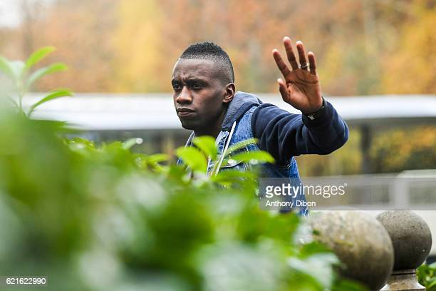 Blaise Matuidi of France arriving at Centre National du Football on November 7 2016 in Clairefontaine France