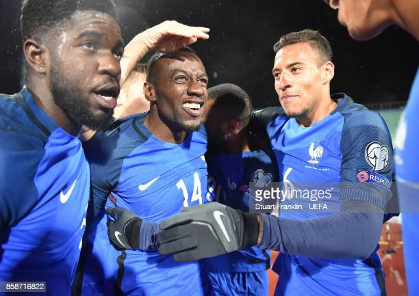 Blaise Matuidi of France celebrates scoring his goal during the FIFA 2018 World Cup Qualifier between Bulgaria and France at on October 7 2017 in...