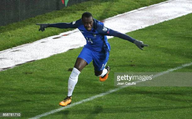 Blaise Matuidi of France celebrates scoring the only goal during the FIFA 2018 World Cup Qualifier between Bulgaria and France at Vasil Levski...