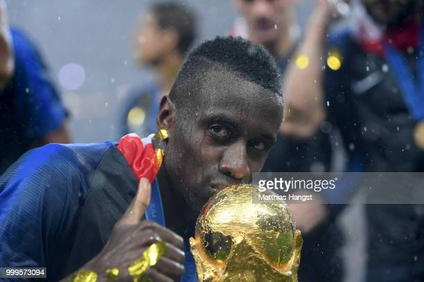 Blaise Matuidi of France celebrates with the World Cup Trophy following his sides victory in the 2018 FIFA World Cup Final between France and Croatia...