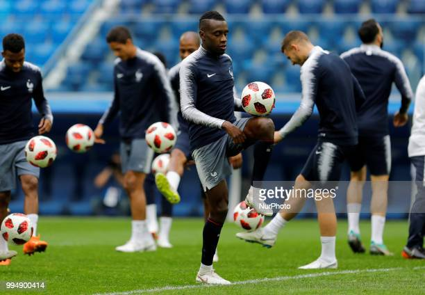 Blaise Matuidi of France national team during a France national team training session ahead of the 2018 FIFA World Cup Russia Semi Final match...