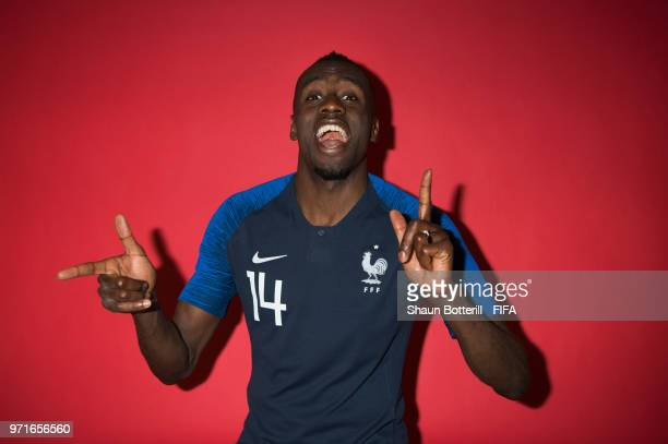 Blaise Matuidi of France poses for a potrait at the team hotel during the official FIFA World Cup 2018 portrait session at on June 11, 2018 in...