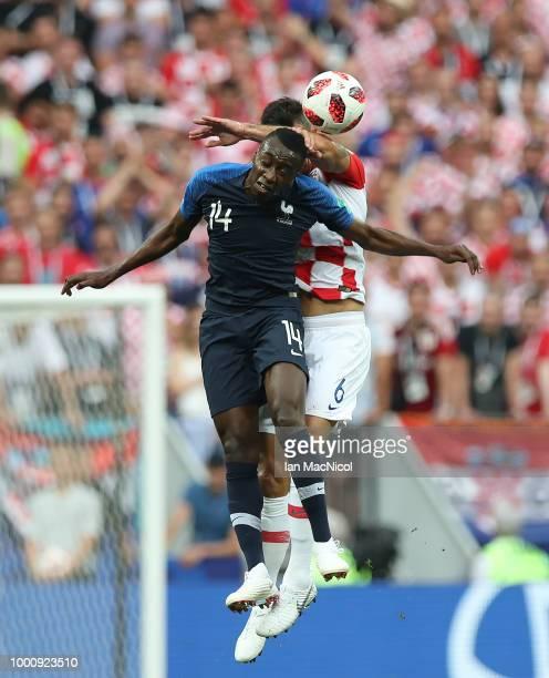 Blaise Matuidi of France vies with Dejan Lovren of Croatia during the 2018 FIFA World Cup Russia Final between France and Croatia at Luzhniki Stadium...
