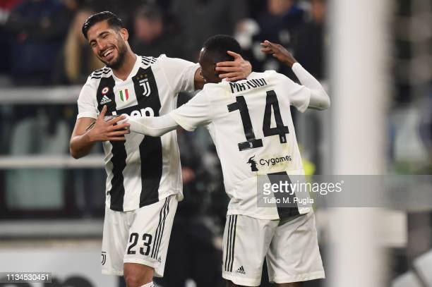 Blaise Matuidi of Juventus celebrates after scoring his team's fourth goal during the Serie A match between Juventus and Udinese at Allianz Stadium...