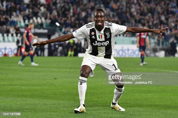Blaise Matuidi of Juventus celebrates his goal of 20 during the serie A match between Juventus and Bologna FC on September 26 2018 in Turin Italy