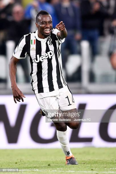 Blaise Matuidi of Juventus celebrates his goal of 20 during the serie A match between Juventus and Atalanta BC on March 14 2018 in Turin Italy