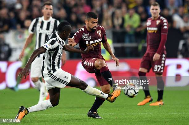 Blaise Matuidi of Juventus competes for the ball whit Tomas Rincon of Torino FC during the Serie A match between Juventus and Torino FC on September...