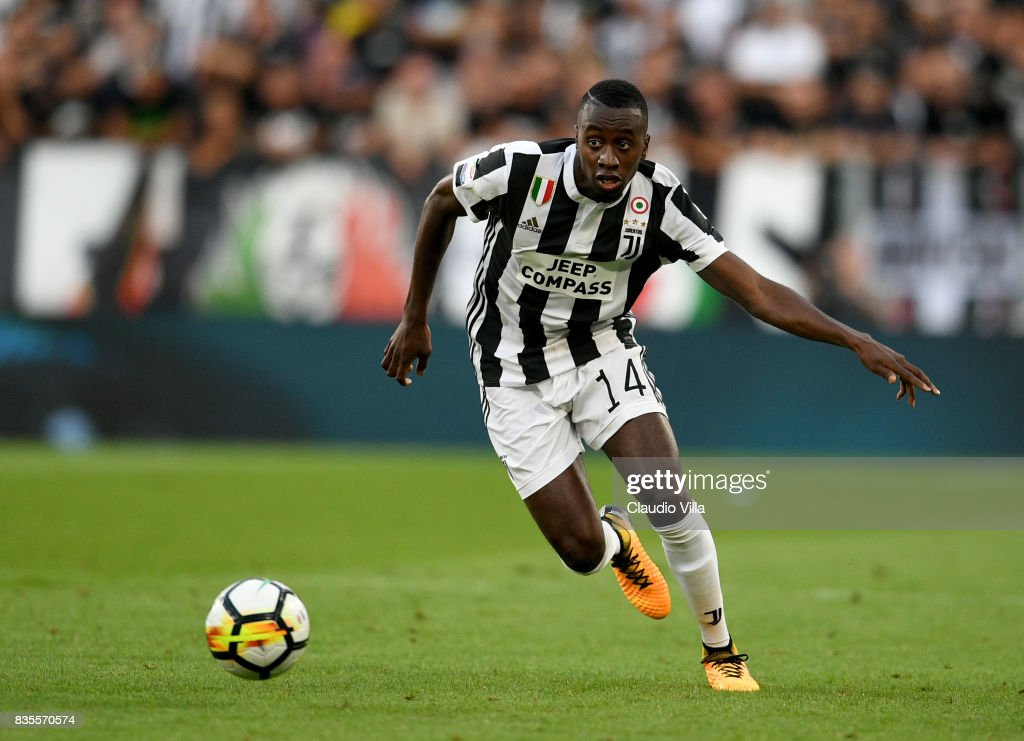 Blaise Matuidi of Juventus FC in action during the Serie A match between Juventus and Cagliari Calcio at Allianz Stadium on August 19, 2017 in Turin, Italy.