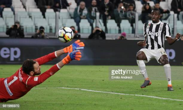 Blaise Matuidi of Juventus FC scores his goal during the serie A match between Juventus and Atalanta BC at Allianz Stadium on March 14 2018 in Turin...