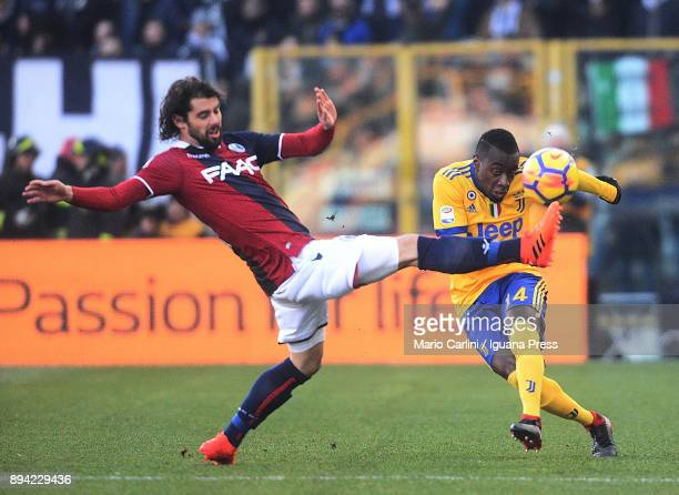 Blaise Matuidi of Juventus in action during the Serie A match between Bologna FC and Juventus at Stadio Renato Dall'Ara on December 17 2017 in...
