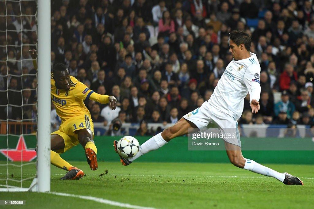 Blaise Matuidi of Juventus scores his sides third goal during the UEFA Champions League Quarter Final Second Leg match between Real Madrid and Juventus at Estadio Santiago Bernabeu on April 11, 2018 in Madrid, Spain.