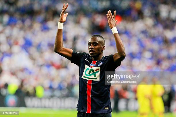 Blaise Matuidi of Paris SaintGermain celebrates the victory of the French Cup Final between AJ Auxerre and Paris SaintGermain at Stade de France on...
