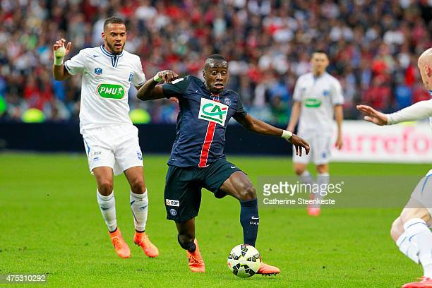 Blaise Matuidi of Paris SaintGermain controls the ball during the French Cup Final between AJ Auxerre and Paris SaintGermain at Stade de France on...
