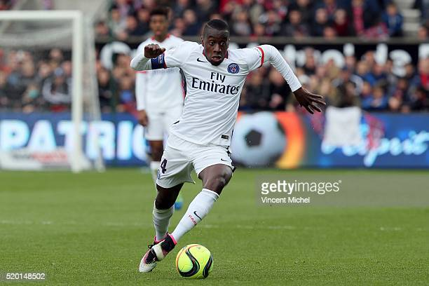 Blaise Matuidi of Paris SaintGermain during the French League 1 match between EA Guingamp and Paris SaintGermain on April 9 2016 in Guingamp France