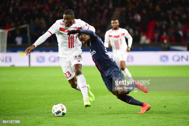 Blaise Matuidi of PSG and Adama Soumaoro of Lille during the French Ligue 1 match between Paris Saint Germain and Lille at Parc des Princes on...